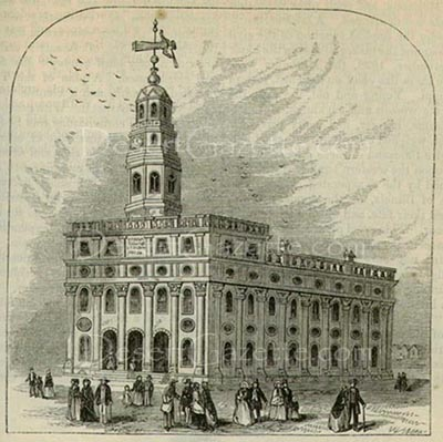 Nauvoo Temple in the 1840s