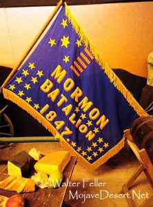 photo of the Mormon Battalion flag