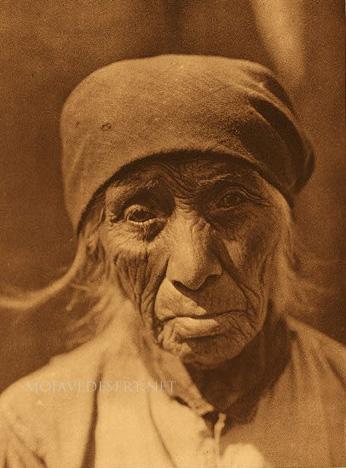 Serrano Indain woman, Edward S. Curtis
