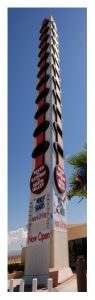 World's tallest thermometer (134')