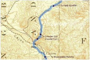 Crowder Canyon map in Cajon Pass
