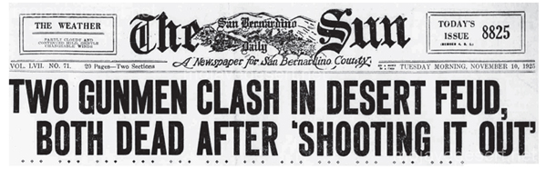 San Bernardino Sun Newspaper Headline