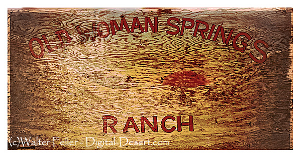 Old Woman Springs Ranch sign