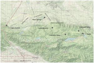 Van Dusen Road/ Coxey Truck Trail from Cajon Summit to Holcomb Valley