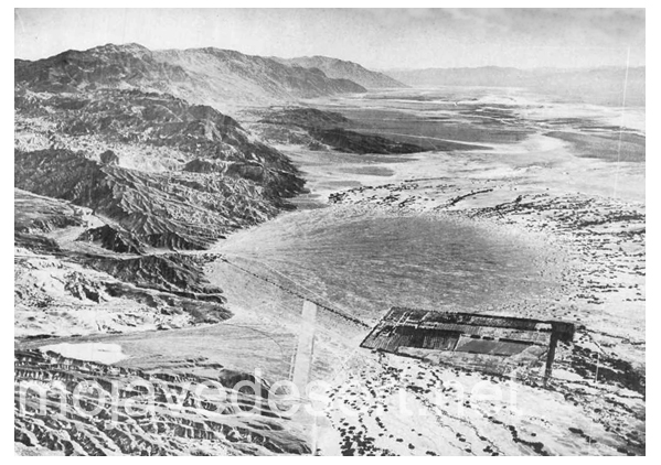 Aerial photo looking over Furnace creek, into southern Death Valley