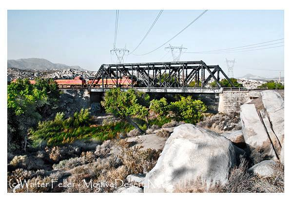 Railroad bridge Victorville, Mojave River
