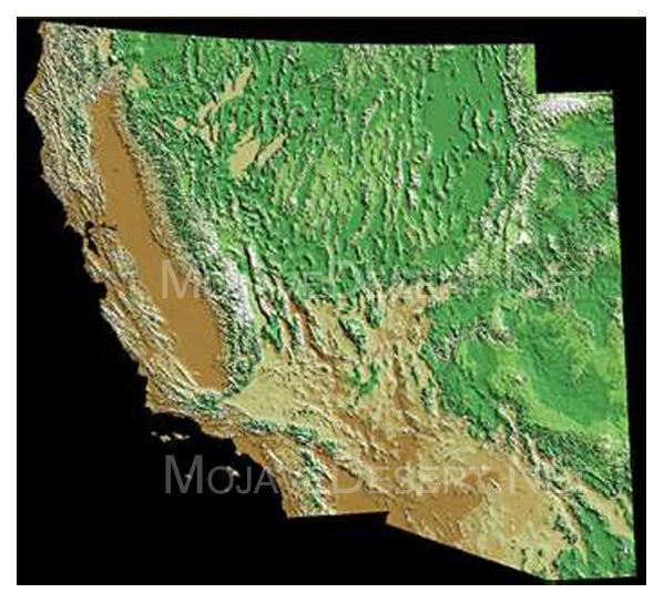 Map of Desert Southwest