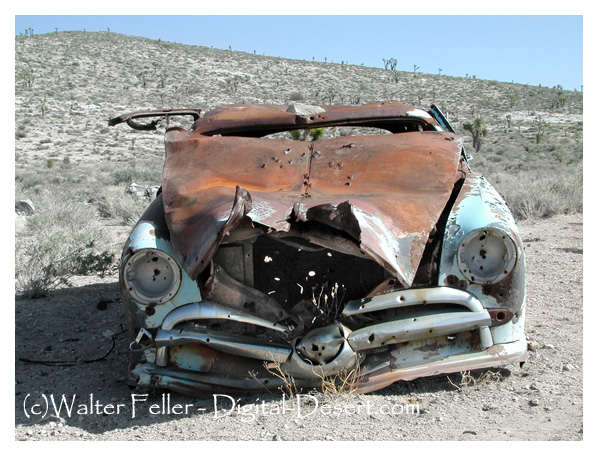 Abandoned 49 Ford sitting in Death Valley National Park