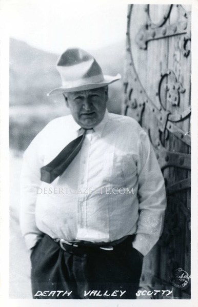 photo of the con man, Death Valley Scotty