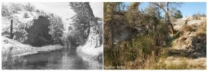 Cottonwood (Old Woman) Springs - 1959 (left) - 2010 (right)