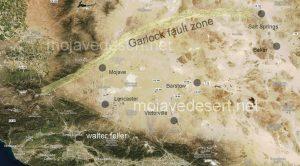 Garlock fault overlay on satellite image