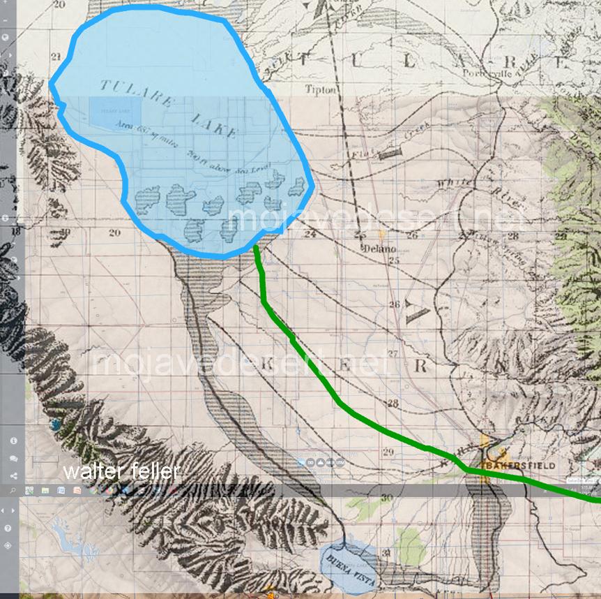 Tulare Lake 1874 map