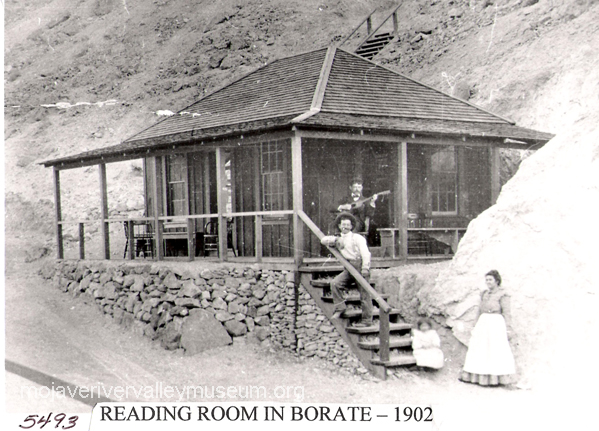 Reading room in Borate 1903